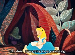 alice in wonderland confusing