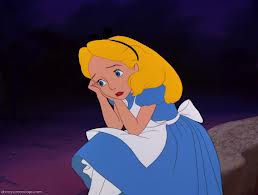 alice in wonderland sad